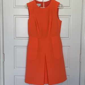 Fit and Flare Orange Dress